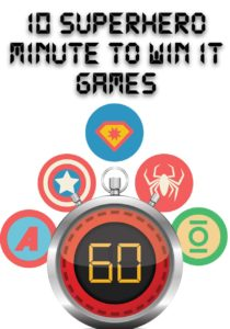 superhero Minute to Win It Games for Kids