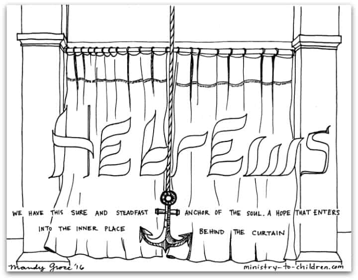 Hebrews Bible Book Coloring Page