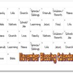 November Blessings Calendar for Kids