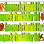 """Someone is Thankful for Me"" Printable Bracelets Craft"