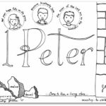 """1 Peter"" Bible Book Coloring Page"