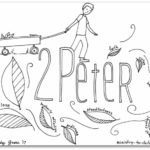 """2 Peter"" Bible Book Coloring Page"