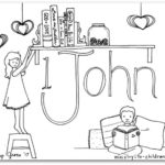 """1 John"" Bible Book Coloring Page"