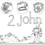 """2 John"" Bible Book Coloring Page"