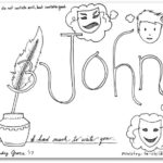 """3 John"" Bible Book Coloring Page"