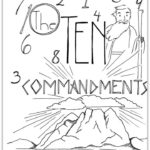 Ten Commandments Coloring Page